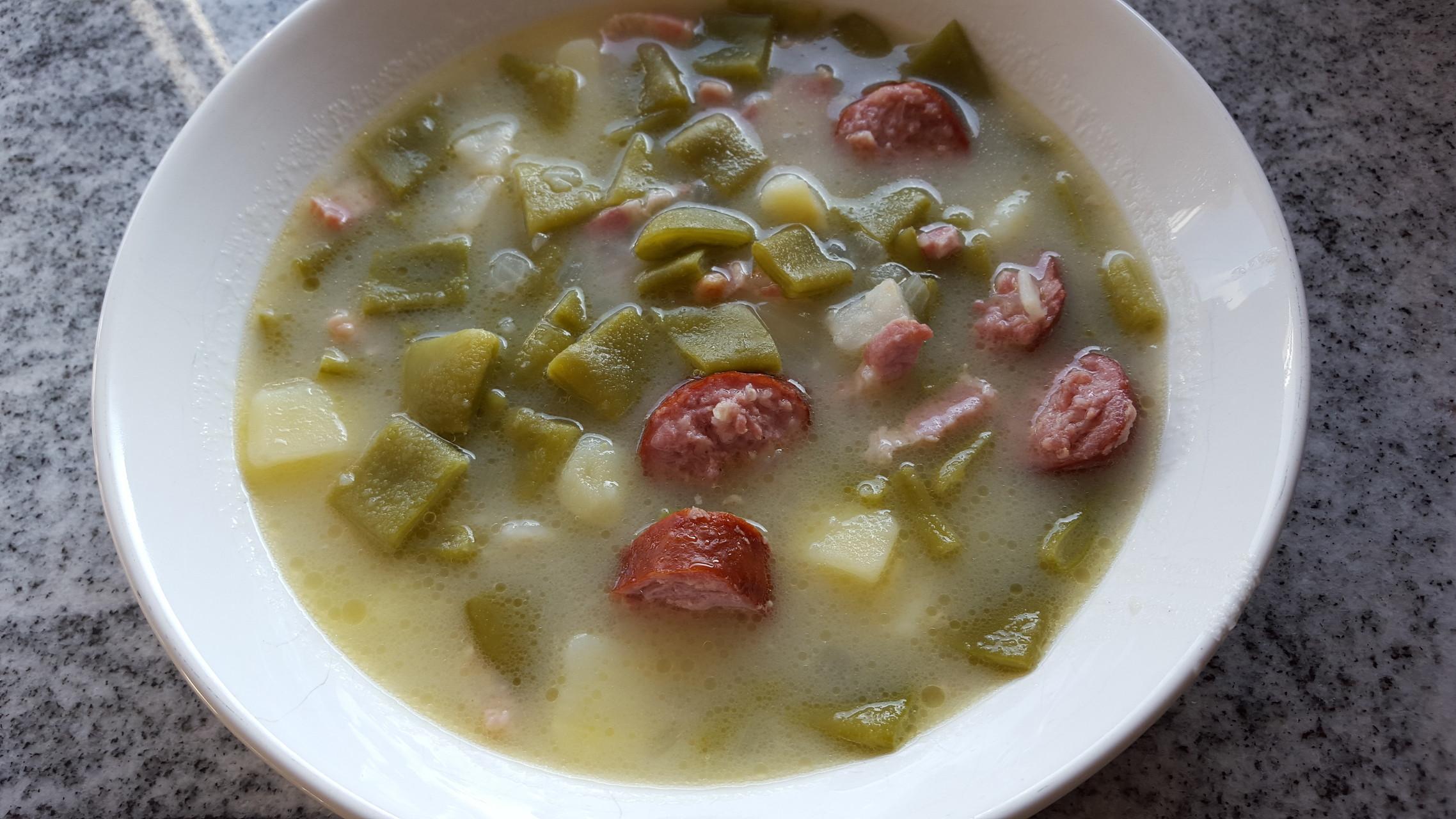 Grüne Bohnensuppe / Bouneschlupp